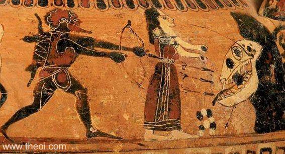 Heracles, Hesíone y el Monstruo marino